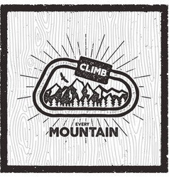 vintage adventure card climb every mountain quote vector image