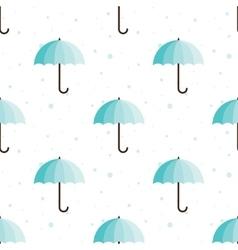 Vintage umbrellas seamless pattern Cute vector