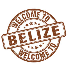 Welcome to belize brown round vintage stamp vector