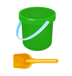 bucket and spade put together on vector image vector image