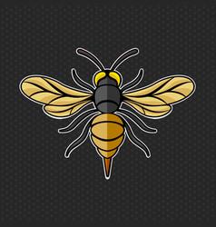 hornet logo template vector image vector image