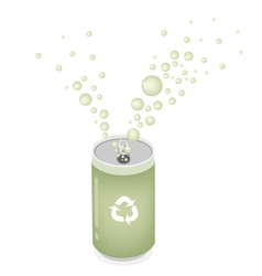 Soda Can with Recycle Symbol for Save The World vector image