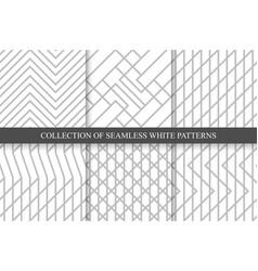 Striped seamless geometric patterns vector