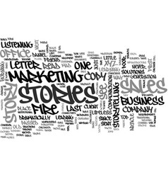 why facts tell and stories sell text word cloud vector image