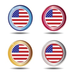 Banner flag American vector image vector image