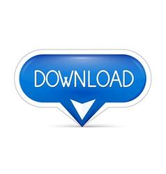blue download web button vector image