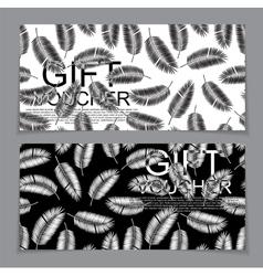 Gift voucher template for summer natural vector