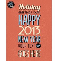 Retro Vintage Happy New Year Background vector image vector image