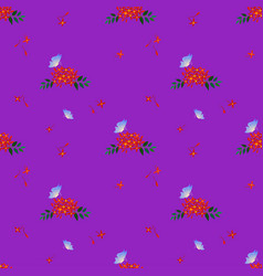 seamless pattern with butterfly and red flowers vector image vector image
