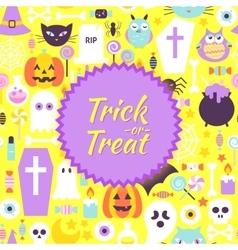 Halloween Trick or Treat Trendy Poster vector image vector image