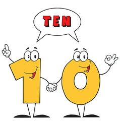 Number Ten And Text vector image vector image