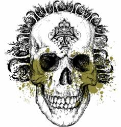 wicked skull illustration vector image vector image