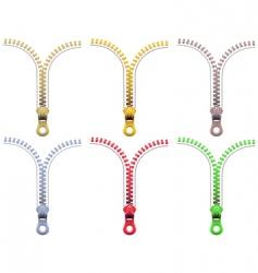 zipper fasteners vector image vector image