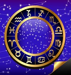 Zodiac Constellation Background vector image vector image