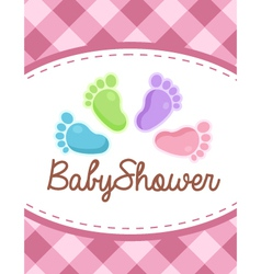 Baby Shower Colorful Feet vector image vector image