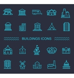 Building Icons set Government vector image