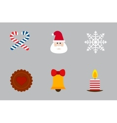 Christmas holiday icons set vector image vector image