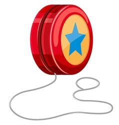 Red yo-yo with white string vector image
