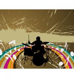 rock group drummer vector image vector image