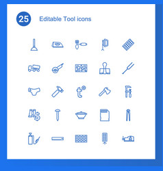 25 tool icons vector