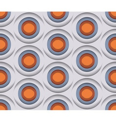 3D Circles Seamless Pattern vector image