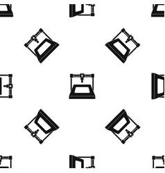 3d printer pattern seamless black vector image