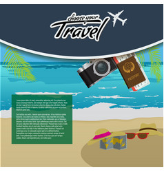 3d realistic travel and tour creative poster vector image