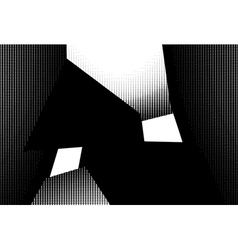 Abstract interior in halftone black and white vector