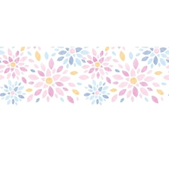 Abstract textile colorful flowers horizontal vector image