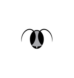 ant head logo icon symbol design vector image