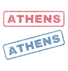 Athens textile stamps vector