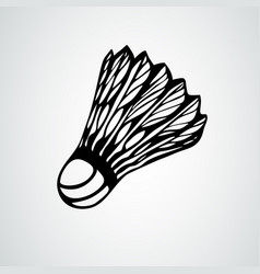badminton shuttlecock or badminton ball vector image