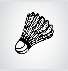 badminton shuttlecock or ball vector image