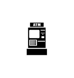 bank atm icon vector image