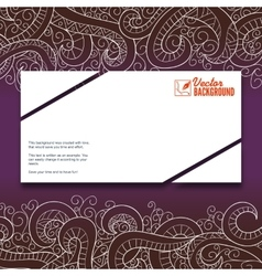 Banner with doddle pattern vector image