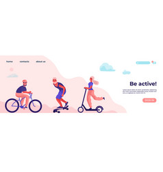 be active and physical activity sports vector image