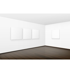 Blank White Posters Pictures Frames on Walls vector
