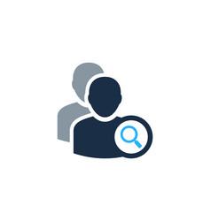 Browse user logo icon design vector