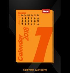 calendar ui january image vector image