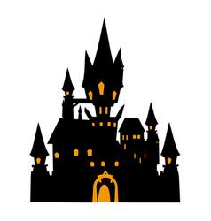 castle halloween flat single icon halloween vector image