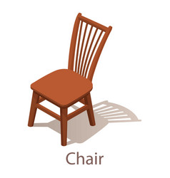 chair icon isometric style vector image