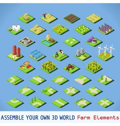 City 02 COMPLETE Set Isometric vector image