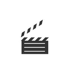 Clapperboard logo graphic design template vector