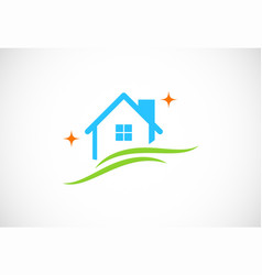 clean house logo vector image