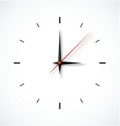 Clock face on white background vector