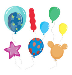 cute cartoon balloon shapes color vector image