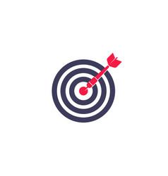dart arrow in center target icon vector image