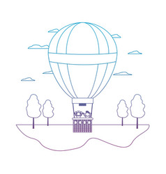 Degraded line air balloon cute entertainment with vector