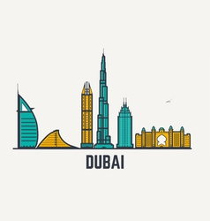Dubai line view vector