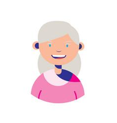 elderly woman grandmother people flat vector image